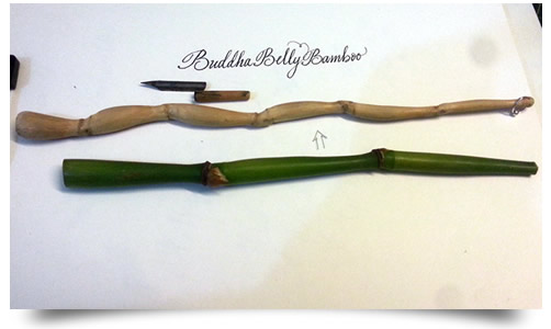Buddha Belly Bamboo dip pen holders