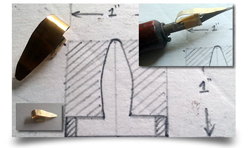 Making of a dip pen ink reservoir